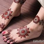 фото Мехенди на лодыжке от 13.07.2018 №207 - Mehendi on the ankle - tatufoto.com