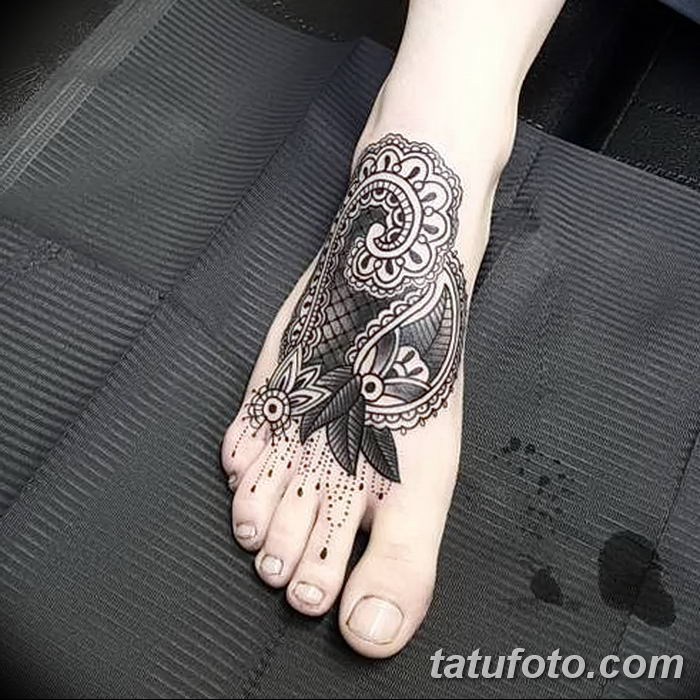 фото Мехенди на лодыжке от 13.07.2018 №209 - Mehendi on the ankle - tatufoto.com