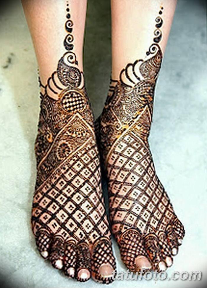 фото Мехенди на лодыжке от 13.07.2018 №210 - Mehendi on the ankle - tatufoto.com