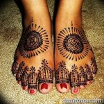 фото Мехенди на лодыжке от 13.07.2018 №213 - Mehendi on the ankle - tatufoto.com