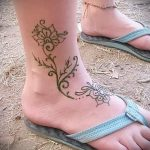 фото Мехенди на лодыжке от 13.07.2018 №214 - Mehendi on the ankle - tatufoto.com