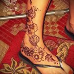 фото Мехенди на лодыжке от 13.07.2018 №216 - Mehendi on the ankle - tatufoto.com