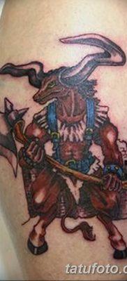 фото тату Минотавр от 19.07.2018 №010 – Minotaur tattoo – tatufoto.com