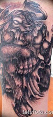 фото тату Минотавр от 19.07.2018 №016 – Minotaur tattoo – tatufoto.com