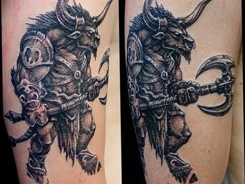 фото тату Минотавр от 19.07.2018 №027 - Minotaur tattoo - tatufoto.com