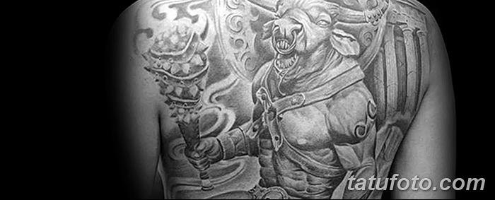 фото тату Минотавр от 19.07.2018 №030 - Minotaur tattoo - tatufoto.com