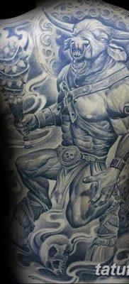 фото тату Минотавр от 19.07.2018 №034 – Minotaur tattoo – tatufoto.com