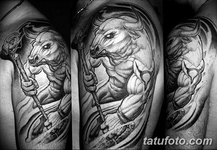 фото тату Минотавр от 19.07.2018 №037 - Minotaur tattoo - tatufoto.com