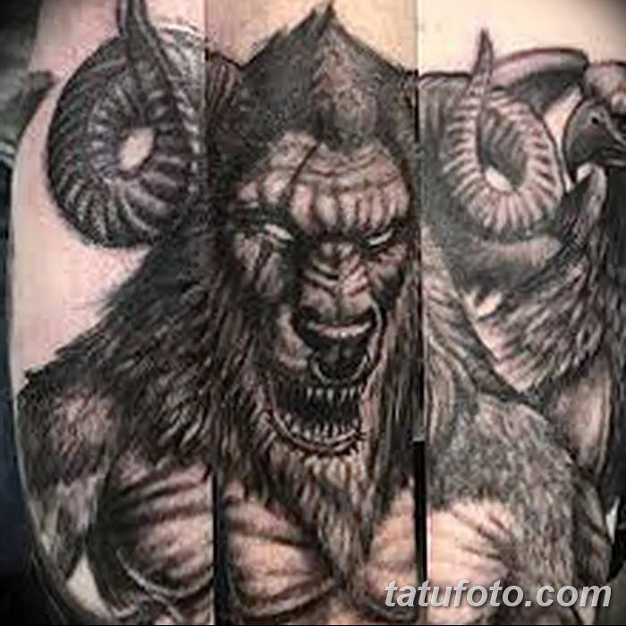 фото тату Минотавр от 19.07.2018 №041 - Minotaur tattoo - tatufoto.com