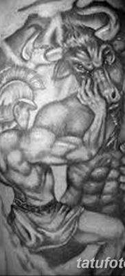 фото тату Минотавр от 19.07.2018 №042 – Minotaur tattoo – tatufoto.com