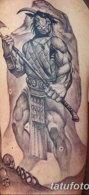 фото тату Минотавр от 19.07.2018 №043 – Minotaur tattoo – tatufoto.com