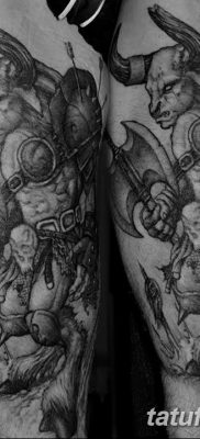 фото тату Минотавр от 19.07.2018 №044 – Minotaur tattoo – tatufoto.com