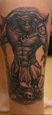 фото тату Минотавр от 19.07.2018 №055 – Minotaur tattoo – tatufoto.com