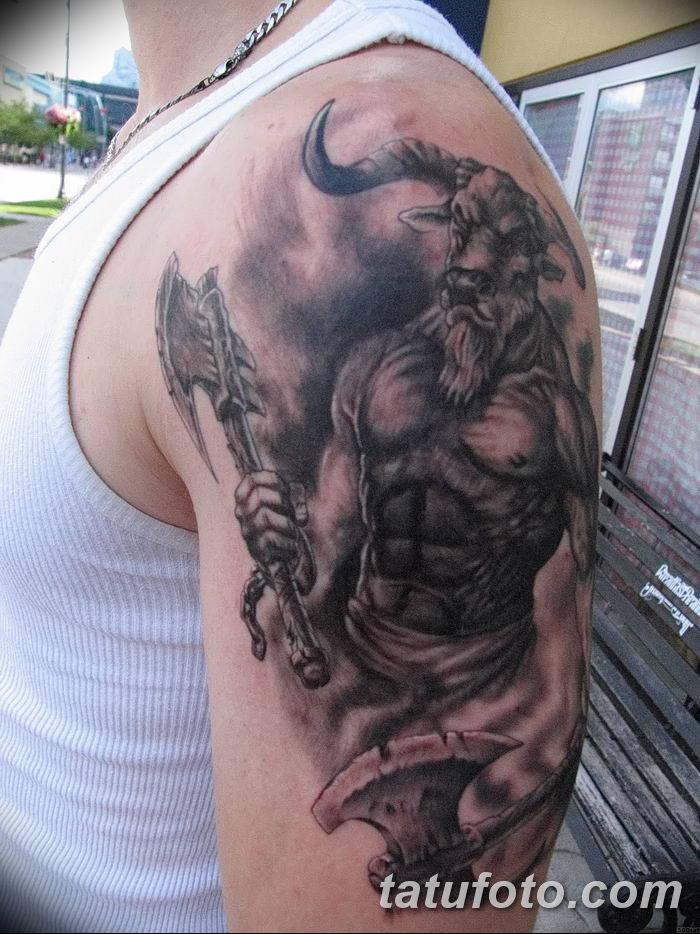 фото тату Минотавр от 19.07.2018 №056 - Minotaur tattoo - tatufoto.com