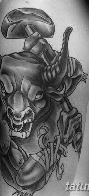 фото тату Минотавр от 19.07.2018 №062 – Minotaur tattoo – tatufoto.com