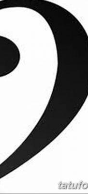 фото тату басовый ключ от 02.07.2018 №022 – Bass Key Tattoo – tatufoto.com