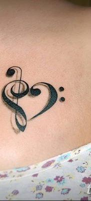 фото тату басовый ключ от 02.07.2018 №028 – Bass Key Tattoo – tatufoto.com