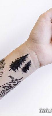фото тату сосна от 31.07.2018 №085 – tattoo pine – tatufoto.com