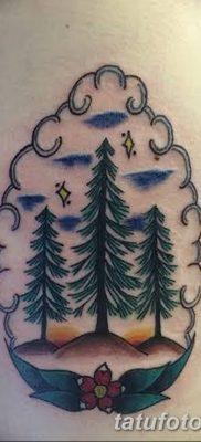 фото тату сосна от 31.07.2018 №101 – tattoo pine – tatufoto.com