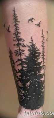 black pine tree tattoo