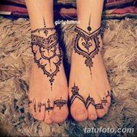 Мехенди на ноге браслет (рисунок хной)