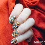 Фото Мехенди на ногтях от 04.08.2018 №008 - Mehendi on the nails - tatufoto.com