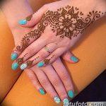 Фото Мехенди на ногтях от 04.08.2018 №015 - Mehendi on the nails - tatufoto.com