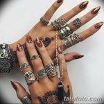 Фото Мехенди на ногтях от 04.08.2018 №017 - Mehendi on the nails - tatufoto.com