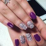 Фото Мехенди на ногтях от 04.08.2018 №019 - Mehendi on the nails - tatufoto.com
