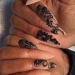 Фото Мехенди на ногтях от 04.08.2018 №036 - Mehendi on the nails - tatufoto.com