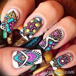 Фото Мехенди на ногтях от 04.08.2018 №039 - Mehendi on the nails - tatufoto.com