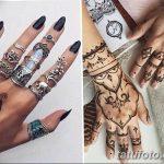 Фото Мехенди на ногтях от 04.08.2018 №040 - Mehendi on the nails - tatufoto.com