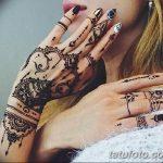 Фото Мехенди на ногтях от 04.08.2018 №057 - Mehendi on the nails - tatufoto.com