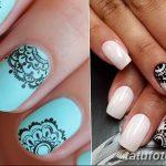 Фото Мехенди на ногтях от 04.08.2018 №059 - Mehendi on the nails - tatufoto.com