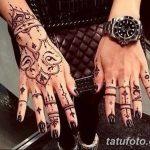 Фото Мехенди на ногтях от 04.08.2018 №060 - Mehendi on the nails - tatufoto.com