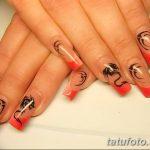 Фото Мехенди на ногтях от 04.08.2018 №061 - Mehendi on the nails - tatufoto.com