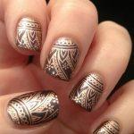 Фото Мехенди на ногтях от 04.08.2018 №068 - Mehendi on the nails - tatufoto.com