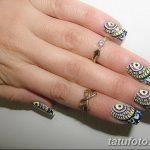 Фото Мехенди на ногтях от 04.08.2018 №076 - Mehendi on the nails - tatufoto.com