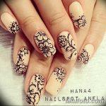 Фото Мехенди на ногтях от 04.08.2018 №079 - Mehendi on the nails - tatufoto.com