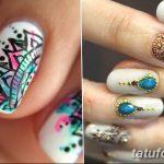 Фото Мехенди на ногтях от 04.08.2018 №082 - Mehendi on the nails - tatufoto.com