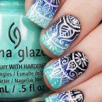 Фото Мехенди на ногтях от 04.08.2018 №086 - Mehendi on the nails - tatufoto.com