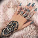 Фото Мехенди на ногтях от 04.08.2018 №088 - Mehendi on the nails - tatufoto.com