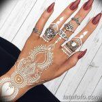 Фото Мехенди на ногтях от 04.08.2018 №103 - Mehendi on the nails - tatufoto.com