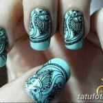 Фото Мехенди на ногтях от 04.08.2018 №106 - Mehendi on the nails - tatufoto.com