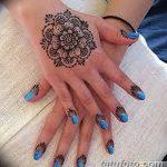 Фото Мехенди на ногтях от 04.08.2018 №112 - Mehendi on the nails - tatufoto.com
