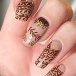 Фото Мехенди на ногтях от 04.08.2018 №113 - Mehendi on the nails - tatufoto.com