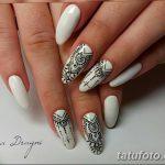 Фото Мехенди на ногтях от 04.08.2018 №123 - Mehendi on the nails - tatufoto.com