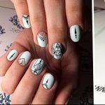 Фото Мехенди на ногтях от 04.08.2018 №132 - Mehendi on the nails - tatufoto.com