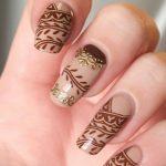 Фото Мехенди на ногтях от 04.08.2018 №134 - Mehendi on the nails - tatufoto.com