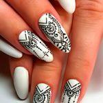 Фото Мехенди на ногтях от 04.08.2018 №136 - Mehendi on the nails - tatufoto.com